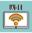 wifi connection design vector image vector image