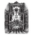window garden building or house vintage engraving vector image vector image