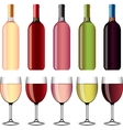 wine and wineglasses set vector image