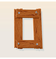wooden letter o vector image vector image