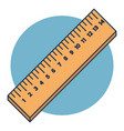 wooden rulers in centimeter isolated on blue vector image vector image