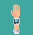 Wrist cuff sphygmomanometer digital device for