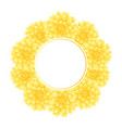 yellow dahlia banner wreath style 2 vector image