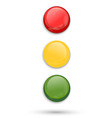 traffic lights isolated on white background vector image