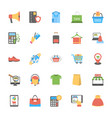 flat icons set of shopping and commerce vector image