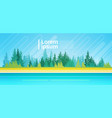 summer landscape mountain forest trees on river vector image
