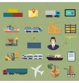 Logistic icons Delivery cargo service vector image