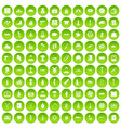 100 war icons set green circle vector image vector image