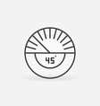 45 degrees concept simple icon in outline vector image vector image