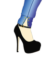 A sensual clothing and shoe vector image vector image