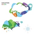 Abstract color map of Singapore vector image