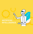 artificial intelligence advert banner template vector image vector image