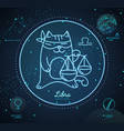 astrology neon libra zodiac sign funny cat
