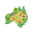 australia map flora and fauna animals and plants