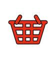 basket sign vector image vector image