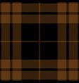 black and brown tartan plaid seamless pattern vector image vector image