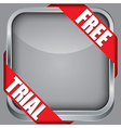 Blank app icon with free trial ribbon vector image vector image