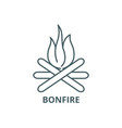 bonfire line icon bonfire outline sign vector image