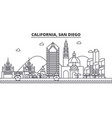 california san diego architecture line skyline vector image vector image