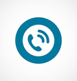call bold blue border circle icon vector image vector image