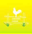 chicken farms logo vector image vector image