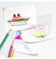 Children drawing vector image