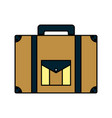 color briefcase journey travel tourist object vector image vector image