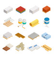 construction materials icon set vector image vector image