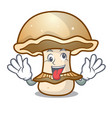 crazy portobello mushroom mascot cartoon vector image vector image