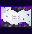Creative geometric wallpaper facet banner