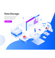 data storage isometric concept modern flat vector image vector image