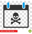 Death Skull Calendar Day Eps Icon vector image vector image