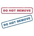 Do Not Remove Rubber Stamps vector image vector image