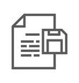 documents line icon vector image vector image