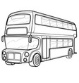 double-decker bus sketch coloring isolated object vector image vector image