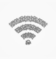 emblem of wi-fi icon decorative ornate ornaments vector image vector image