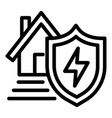 energy house protect icon outline style vector image vector image