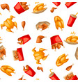 fast food fried chicken meat vector image vector image