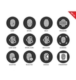 Fingerprint icons on white background vector image vector image