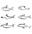 Fish outlines vector | Price: 1 Credit (USD $1)