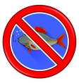 Fishing Prohibited Sign Isolated vector image vector image