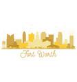 fort worth texas usa city skyline golden vector image vector image
