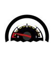 fuel gauge indicator car dashboard empty gas vector image