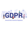 gdpr general data protection regulation concept vector image vector image