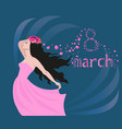 girl in a wreath of roses vector image vector image