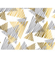 gold and gray geometric luxury seamless pattern vector image vector image