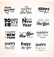 hand written new year phrases vector image