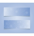 Horizontal Blue Rectangle Banners Snow Winter vector image