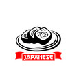 icon for japanese sushi cuisine restaurant vector image vector image
