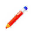icon pencil with eraser in flat style vector image